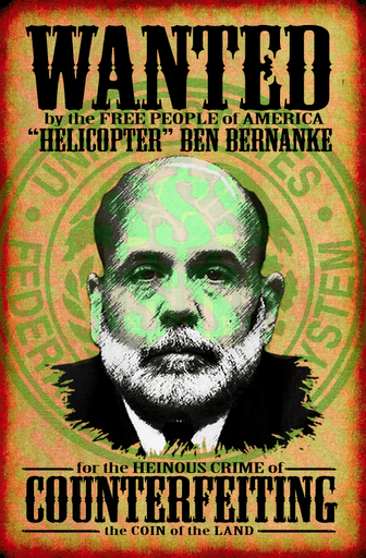 Bernank Wanted Sign