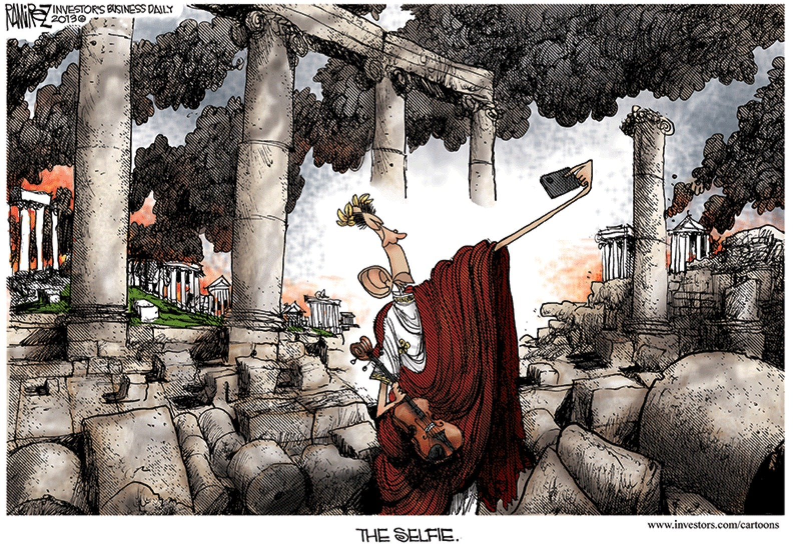 Fiddle while rome burns