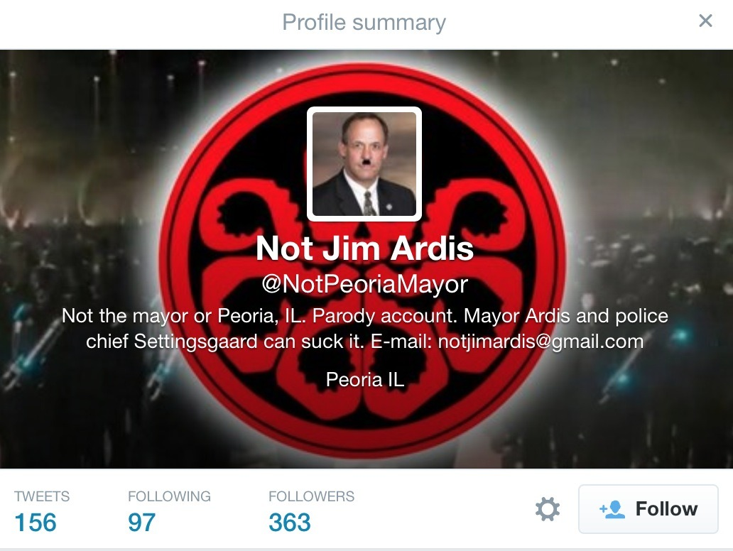 Hyper-Sensitive Illinois Mayor Orders Police Raid Over Parody Twitter Account