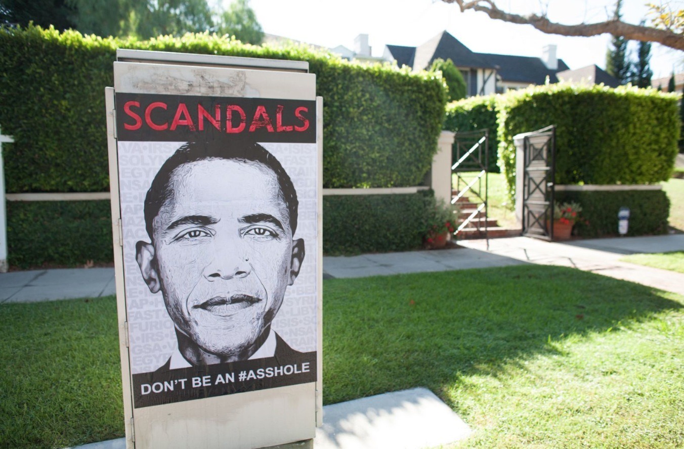 "Picture of the Day – LA Street Artist Calls Out Obama for ""Being an Asshole"" Screen Shot 2014 07 23 at 9.47.06 AM"