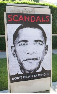 "Picture of the Day – LA Street Artist Calls Out Obama for ""Being an Asshole"""