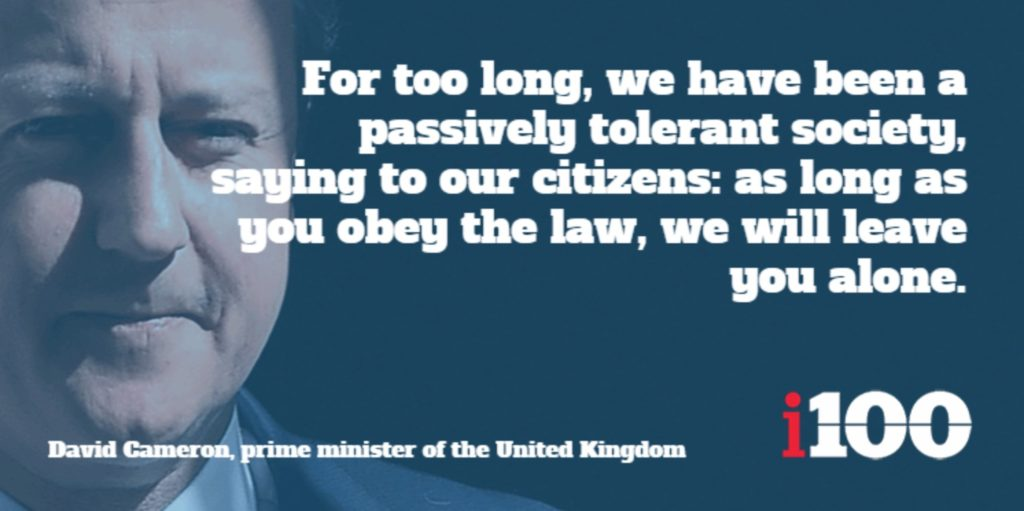 UK Prime Minister David Cameron Proclaims – It's Not Enough to Follow the Law, You Must Love Big Brother