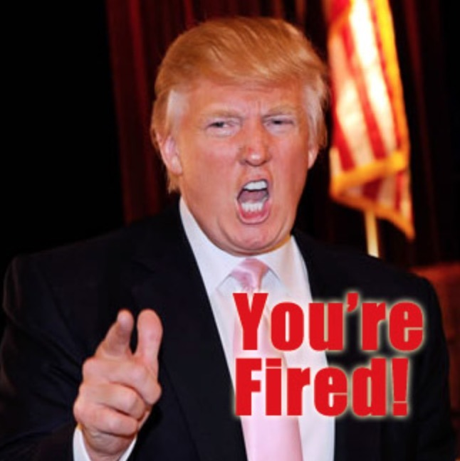 You're Fired – Trump Campaign Tweets Photo of Trump's Head ...