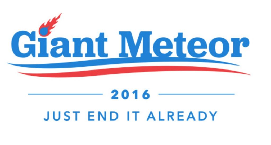 1 in 4 Young Americans Prefer a Giant Meteor to Trump or Clinton as President