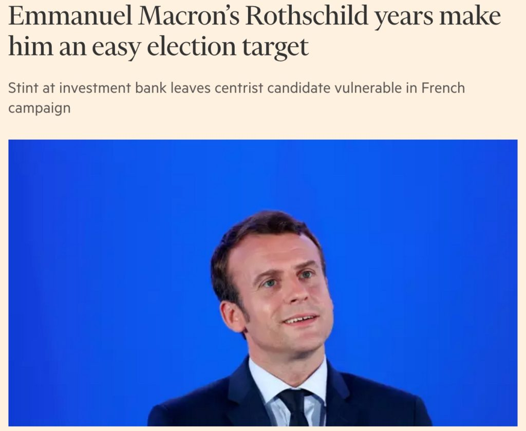 Meet Emmanuel Macron – The Consummate Banker Puppet, Bizarre Elitist Creation