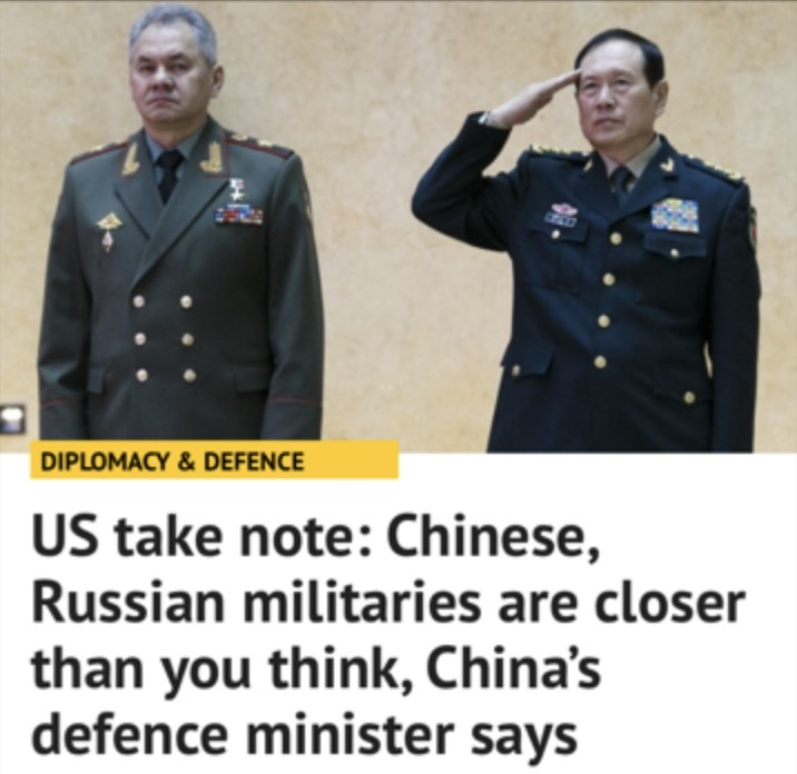 Liberty Links 4/8/18 – Chinese, Russian Militaries Are Closer Than You Think, China's Defense Minister Says